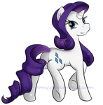 Rarity by secret-pony