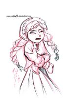 Disney's Frozen - Anna Sketch 01 by Nippy13