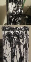 Black-n-Silver Abstract by Flich