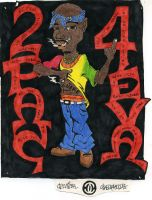 2pac by Fishamon