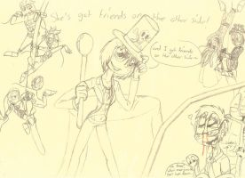 gift: friends on the other side ft. the stickpunks by DragonCatgirl