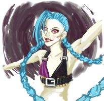 Jinx Sketch by BlueVagabond