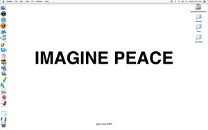 imagine peace desktop by ruthey