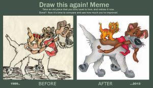 Draw this again! Meme: Oliver and Dodger by Zwerg-im-Bikini
