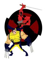 Wolvie vs Deadpool by GroundUpStudios