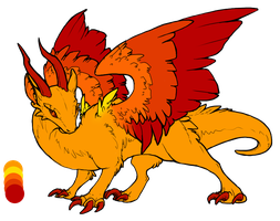 Fire Dragon - Draw To Adopt (DTA) - OPEN by ChillyAdoptables