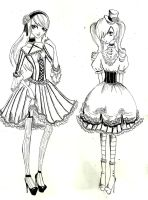 Ciel + Alois cross dressing by Mirrei