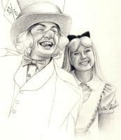 Hatter and Alice WIP 2 by Lyvyan