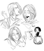 Snape Sketches by BBMacToma
