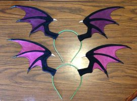 Morrigan headwings by silverfaction