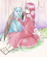 Blue and Pink. by DragonflyEmpress