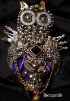 Silver Owl Pendant by SpiffsHexapodS