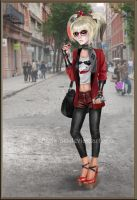 Hipster Harley Quinn by kharis-art