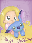 SS Rapunzel and Stitch by LeniProduction