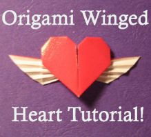 Origami Winged Heart Tut by pandacub143