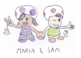 Maria and Sam by MrNintMan