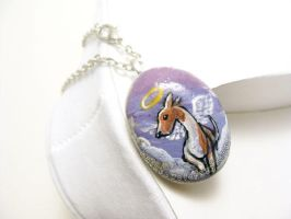 Greyhound Pendant Necklace by sobeyondthis