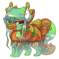 Algae slimerock pup auction by puqqie