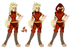 Rika's Fire Clan Monk outfit by Streaked-Silver