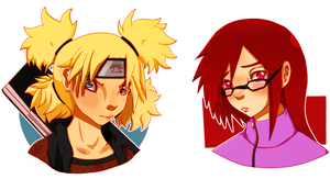 Temari n' Karin Busts by CorporateConverse