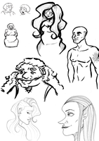 A Sketchdump of sorts by Shauna-O-Connor