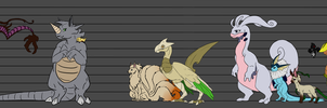 PMD-U Character and NPC Size Chart by Valkyryn