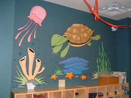 Mural-Underwater Turtle by Hobbit1978