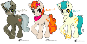 Fruit pony adoptables by PlaguePuppet