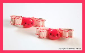 Kitty hair Clips by MelodyMaid
