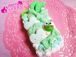 Green Decoden Iphone 4/4S Case by kpossibles