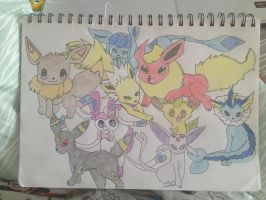 Eevee Evolutions by Megalomaniacaly