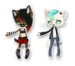 Punk/Rockabilly German Shepherd Adopts (OPEN!) by Xecax