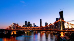 Story Bridge and Brisbane CBD by kate-art