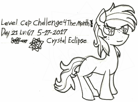 Level-Cap-Challenge-Day-21 Crystal Eclipse by bassmegapokemonlover
