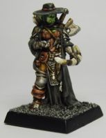 MORDHEIM Witch Hunter Female Half Orc by FraterSINISTER