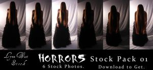 Horrors Pack 01 by Lynnwest-Stock