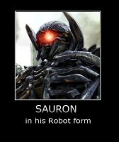 Sauron in Robot form  :D by MorguLord33