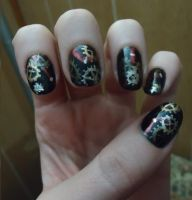 Steampunk Inspired Nails by pockyXbandit