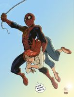 Spidey and MJ by DogSupreme by VPizarro626