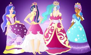 Disneyfied:4 Pony Princesses by Willemijn1991
