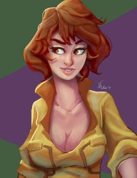April O'Neil by SteveMillersArt