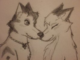 Kyoto and Jax - closeup by KyotoFoxfire
