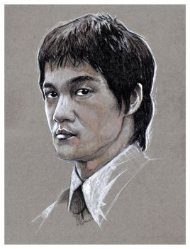 Bruce Lee sketch by MarkButtonDesign