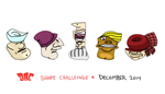 Design-A-Character - Shape Challenge Dec. 2014 by HipnikDragomir
