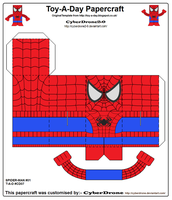 Toy-A-Day CD07 - Spider-Man Papercraft by CyberDrone2-0