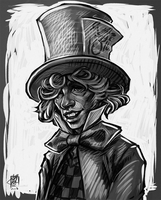 Mad Hatter (sketch) by daPatches