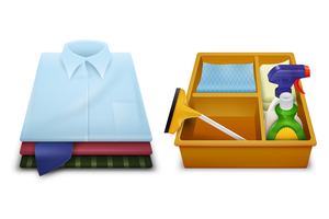 Home-Cleaning Icons by madewira