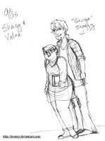 90s Shaggy and Velma by brensey