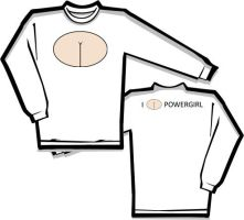 Powergirl Longsleeve T-Shirt by jsos