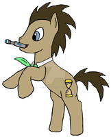 Dr. Whooves w/  a sonic by Endeavor4ever